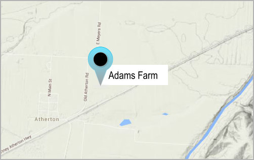 more on the Frank Adams Farm