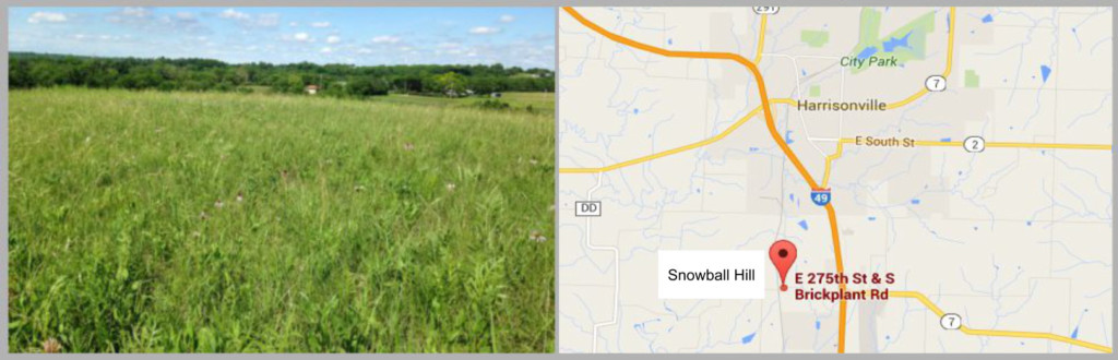 main page picture snowball hill and map image